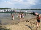 Plaża, jezioro, kajaki, rowery i piłka
