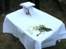 Przygotowanie do Mszy Św. w Serpelicach nad Bugiem